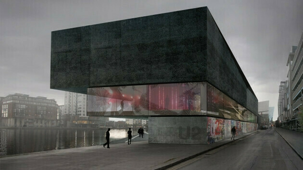 Artist's drawing for U2's proposed visitor centre in Dublin's docklands