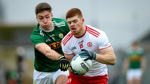 Kerry's Adrian Spillane and Cathal McShane of Tyrone