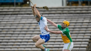 Waterford's Mikey Kearney with Pat Camon of Offaly