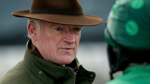 Willie Mullins watched as Robin De Carlow won first time over fences