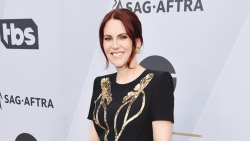 15d89f856d2 Host Megan Mullally was left to buy her SAG gown online