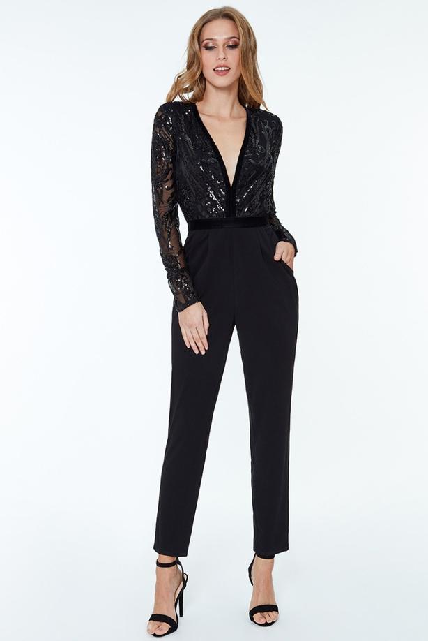 a1f42e4de0d7 Get the Look  Jennifer Zamparelli s Sequin Jumpsuit