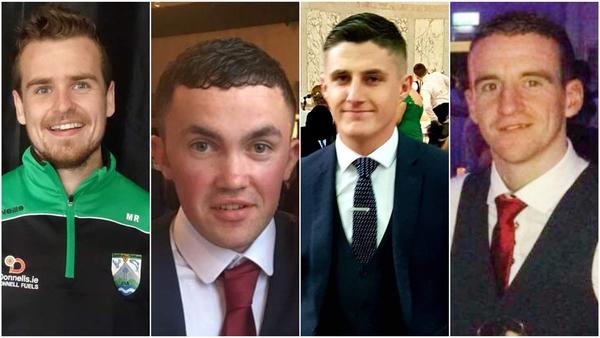 Mícheál Roarty, Shaun Harkin, Daniel Scott, and John Harley (left to right) died in the crash