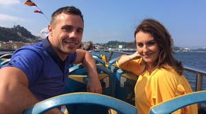 Tommy Bowe and Mairéad Ronan in Porto, Portugal's second-largest city