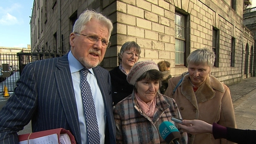 Della Kerrigan (wearing hat) said she was deeply disappointed her friends had betrayed her