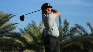 Eddie Pepperell playing at a recent event on the Desert Swing