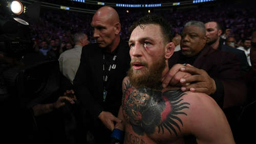 Conor McGregor in the aftermath of his defeat to