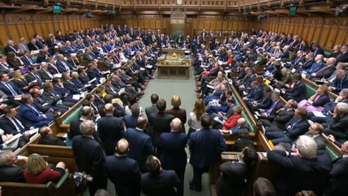 Voting took place on a series of amendments in the House of Commons