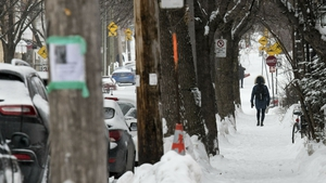 In Canada, the icy temperatures prompted a rare 'hazardous' cold warning from the government
