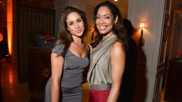 Meghan Markle and her former Suits co-star Gina Torres, pictured in 2012