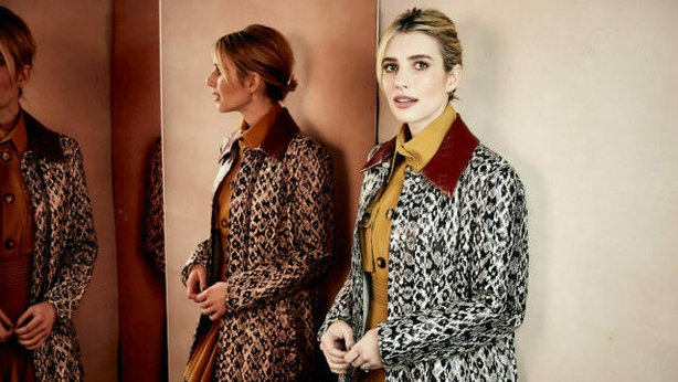 """Emma Roberts poses for a portrait to promote the film """"Paradise Hills"""" at the Salesforce Music Lodge during the Sundance Film Festival on Saturday, Jan. 26, 2019, in Park City, Utah. (Photo by Taylor Jewell/Invision/AP)"""