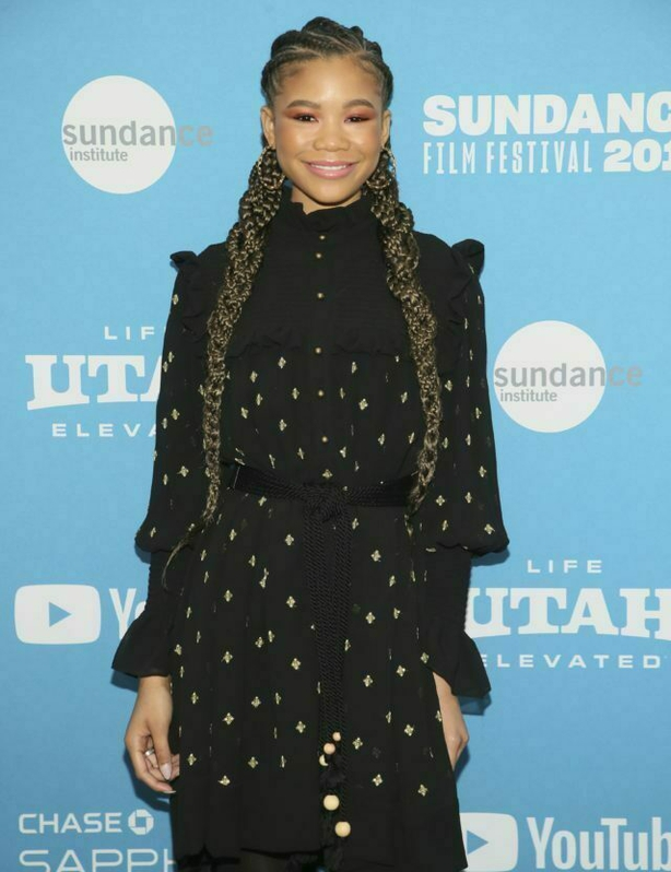 """Actress Storm Reid poses at the premiere of the film """"Relive"""" during the 2019 Sundance Film Festival, Sunday, Jan. 27, 2019, in Park City, Utah. (Photo by Danny Moloshok/Invision/AP)"""