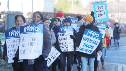 INMO members have staged a series of strikes in their dispute over pay and conditions