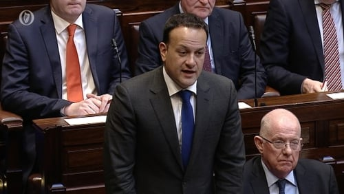 Taoiseach made his comments during Leaders' Questions in the Dáil