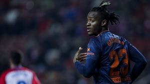 Michy Batshuayi was recently on loan at Valencia