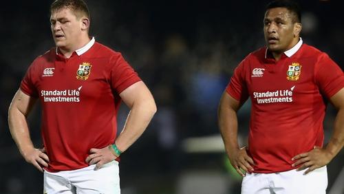 Furlong (l) and Mako Vunipola on Lions duty