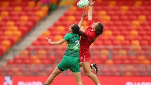 Hannah Tyrrell in action against Canada