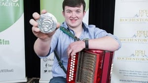 Keelan McGrath from Borrisokane, Co. Tipperary, the youngest musician ever to win the Seán Ó Riada Gold Medal