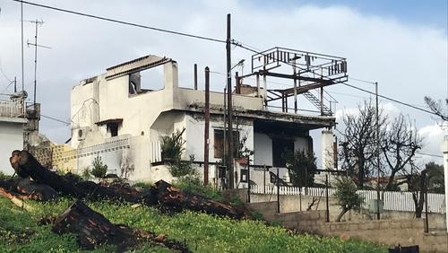 Fires swept through the coastal resort of Mati on 23 July last year