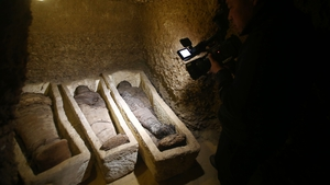 Some of the mummies were found wrapped in linen while others were placed in stone coffins or wooden sarcophagi