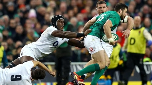 Maro Itoje was injured during the win over Ireland
