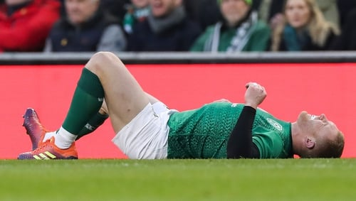 Keith Earls took a couple of hard hits in the first half