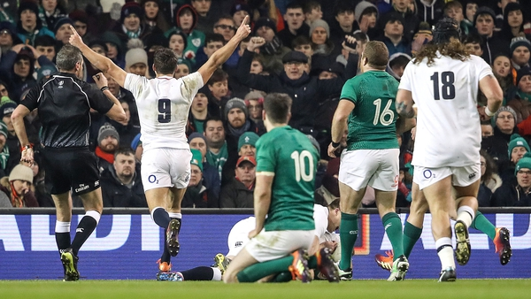 England inflicted Ireland's first home defeat in 13 games