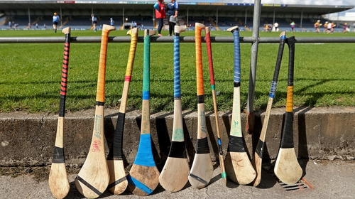 Two hurls went unused in the second half of this game