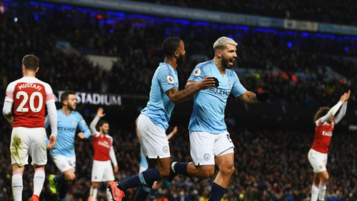 Sergio Aguero scored very early for the second time this week