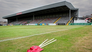 The shaded part of the pitch under the Jodi Stand was the worst affected by the weather