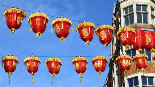 All set for the Year of the Pig. Photo: Keith Mayhew/SOPA Images/LightRocket via Getty Images
