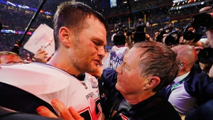 It was another day of glory for Tom Brady (L) and head coach Bill Belichick