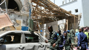 The car bomb exploded in a busy part of Mogadishu