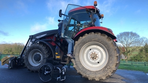 Martin Murphy developed his own method of getting into his tractor