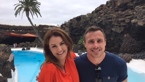 Mairéad Ronan and Tommy Bowe in Lanzarote