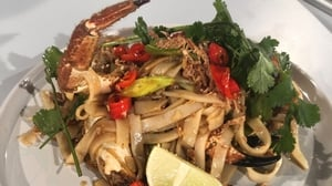 Niall Siabong's Sticky Hoisin Crab with Rice Noodles