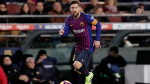 Messi has been battling a leg injury suffered in Saturday's La Liga win over Valencia - a game in which the 31-year-old scored his 12th goal in his last nine games.