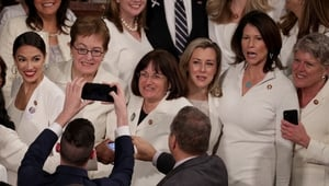 In the US, female politicians like Alexandria Ocasio-Cortez (first on left) have been pushing for change.