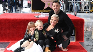 Pink with her husband Carey Hart and two children