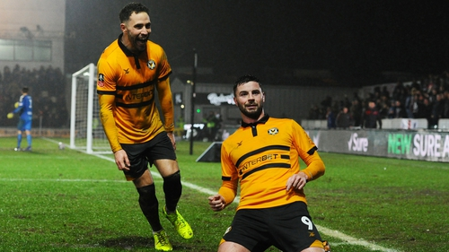 Padraig Amond led Newport County to another famous win