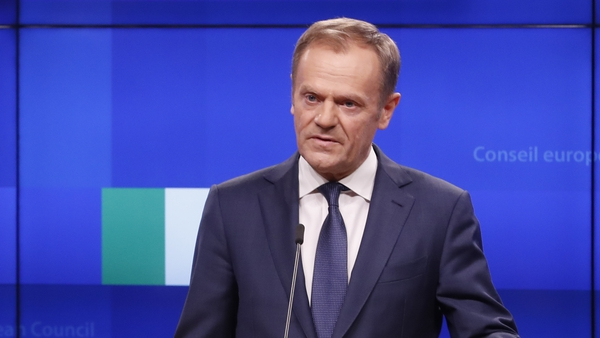 Donald Tusk said that the EU27 had decided in December that the Withdrawal Agreement was not open for renegotiation