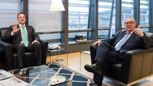 Taoiseach Leo Varadkar and Jean-Claude Juncker were speaking in Brussels today
