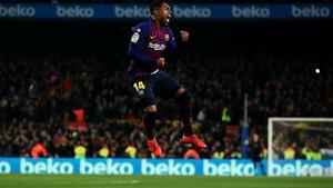 Malcom Filipe celebrates after scoring the equaliser