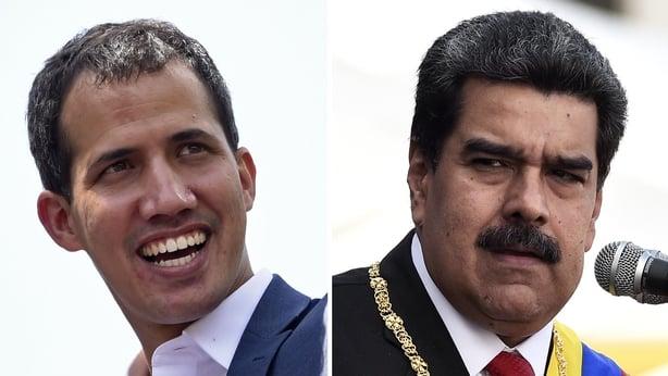 Juan Guaido and Nicholas Maduro