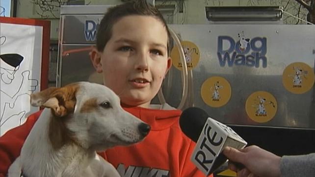 Young dog owner at Dogwash station (2004)