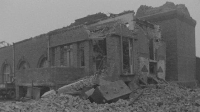 Aftermath of explosion at Ringsend (1969)