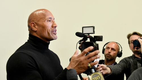 "Dwayne Johnson: ""Academy and I were super bummed but maybe one day down the road (sic)''."