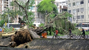 Some of the most iconic neighbourhoods in the country's second-largest city were battered by winds of up to 110km/h
