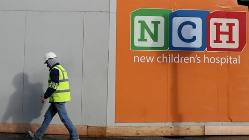 Construction work is under way at the National Children's Hospital