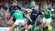 Ireland beat Scotland in Murrayfield last month